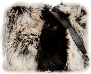 Brązowa torebka Gena na ramię ze skóry w stylu glamour