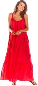 Sukienka Awama z dekoltem w kształcie litery v na ramiączkach