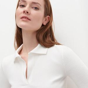 Bluzka Reserved z długim rękawem z golfem