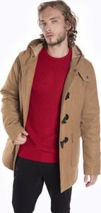 Płaszcz męski Gate w młodzieżowym stylu z wełny