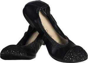 Czarne baleriny Lafemmeshoes z płaską podeszwą