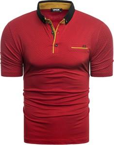 Czerwona koszulka polo Risardi z krótkim rękawem