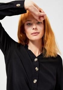 Czarna koszula Moodo z długim rękawem