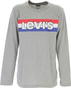 Koszulka dziecięca Levis z bawełny z długim rękawem