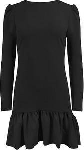Czarna sukienka Chiara Poland z długim rękawem