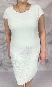 ae1b09fccd Sukienka Dorota z tkaniny z okrągłym dekoltem