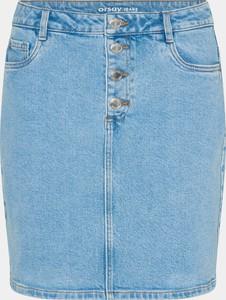 Niebieska spódnica ORSAY mini z jeansu