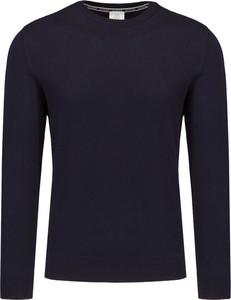 Granatowy sweter Bogner z dzianiny w stylu casual