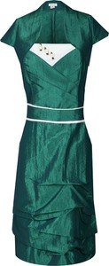 Zielona sukienka Fokus midi