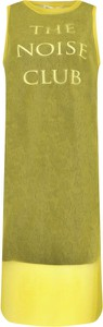 Zielona sukienka McQ Alexander McQueen prosta bez rękawów