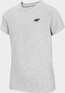 Koszulka dziecięca 4F dla chłopców z bawełny z krótkim rękawem