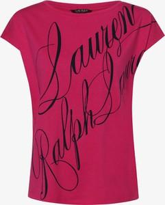Różowa bluzka Ralph Lauren z bawełny w młodzieżowym stylu z okrągłym dekoltem