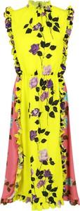 Żółta sukienka MSGM mini bez rękawów