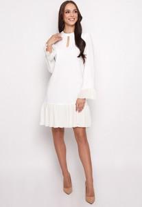 Sukienka Sererra Butik z szyfonu z długim rękawem