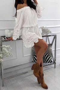 Sukienka Ivet.pl w stylu casual oversize z długim rękawem