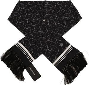 Czarny szal męski Dolce & Gabbana