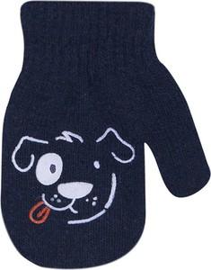 Niebieskie rękawiczki YoClub z wełny