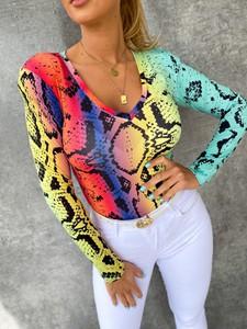 Bluzka Ricca Fashion z dekoltem w kształcie litery v