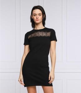 Czarna sukienka Superdry mini z krótkim rękawem