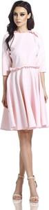 Różowa sukienka Lemoniade z długim rękawem z okrągłym dekoltem
