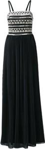 Czarna sukienka Heine z dekoltem w karo maxi