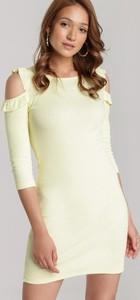Sukienka Renee mini z okrągłym dekoltem w stylu casual