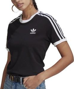 T-shirt Adidas z okrągłym dekoltem z krótkim rękawem z bawełny