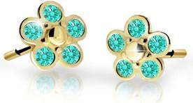 Cutie jewellery kolczyki dla dzieci cutie kwiatki c2744 żółtego, mint green, puzeta