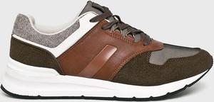Brązowe buty sportowe Medicine sznurowane