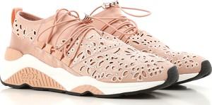 Różowe buty sportowe Ash sznurowane w stylu casual