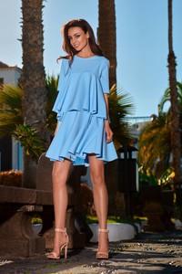 Niebieska sukienka TAGLESS oversize