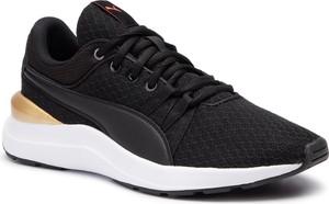 Czarne buty sportowe Puma sznurowane z płaską podeszwą