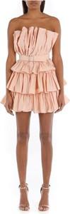 Różowa sukienka ANIYE BY hiszpanka bez rękawów mini
