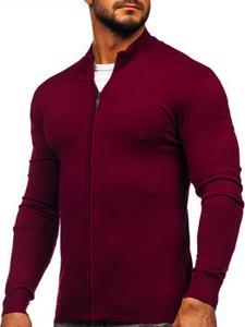 Czerwony sweter Denley w stylu klasycznym
