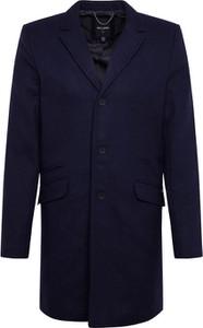 Granatowy płaszcz męski Only & Sons z wełny