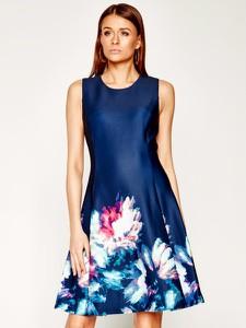Sukienka DKNY mini z okrągłym dekoltem bez rękawów