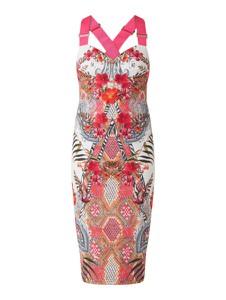 Sukienka Ted Baker z dekoltem w kształcie litery v midi na ramiączkach