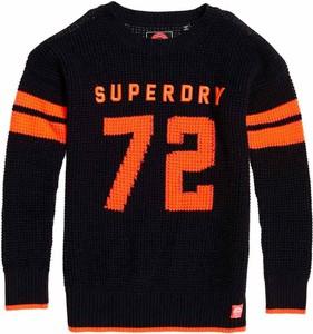 Czarny sweter Superdry w stylu casual z dzianiny