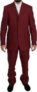 Czerwony garnitur Romeo Gigli z bawełny