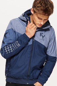 Niebieska kurtka Cropp w młodzieżowym stylu