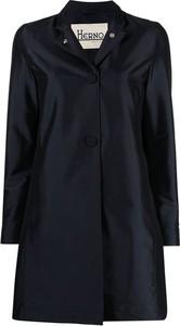 Granatowy płaszcz Herno