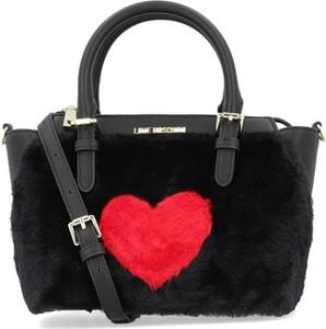 Czarna torebka Love Moschino w stylu casual na ramię