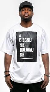 T-shirt Pihszou z krótkim rękawem z żakardu