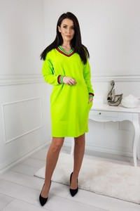 a72c355c89 Sukienka Trendy By Sobiertex z bawełny z dekoltem w kształcie litery v