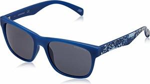 amazon.de Skechers SE6022 męskie okulary przeciwsłoneczne, niebieskie (matowy niebieski/smoke), 55