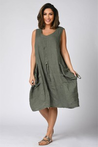 Sukienka Plus Size Company w stylu casual z lnu