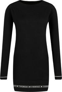 Czarny sweter Twinset w stylu casual z kaszmiru