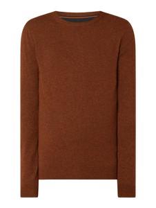 Brązowy sweter McNeal z okrągłym dekoltem