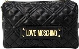 Czarna torebka Love Moschino matowa na ramię ze skóry