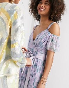Fioletowa sukienka Anaya z dekoltem w kształcie litery v
